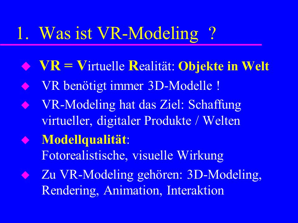 1.Was ist CAD-Modeling .