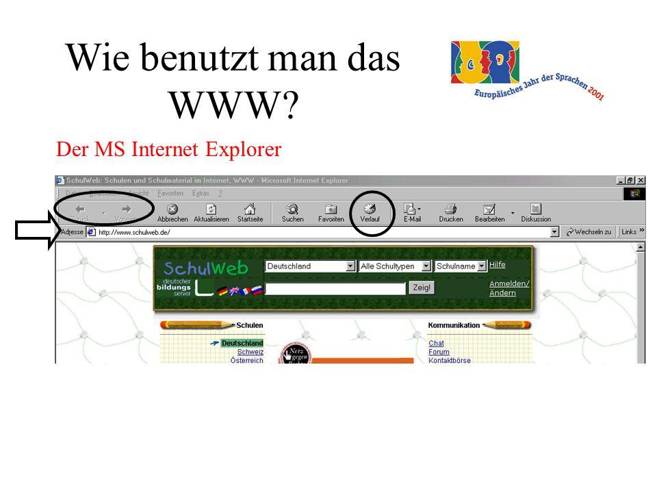 Wie benutzt man das WWW Der MS Internet Explorer
