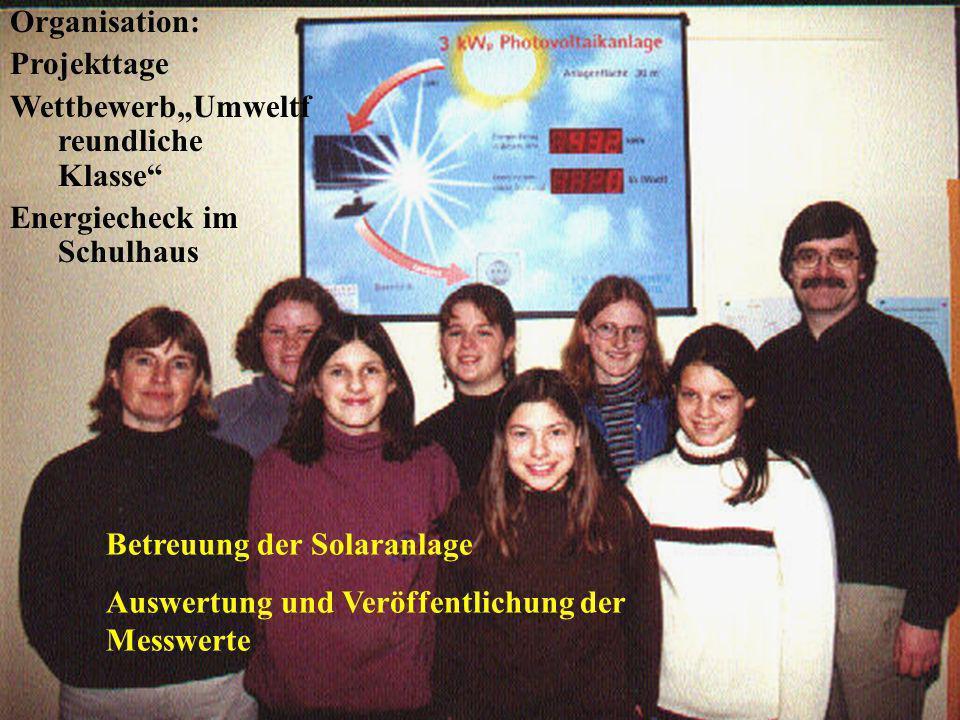 Unser Ökologisches Konzept Projektgruppe Umwelt und Energie