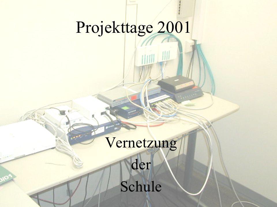 Projekttage 2001 Vernetzung der Schule