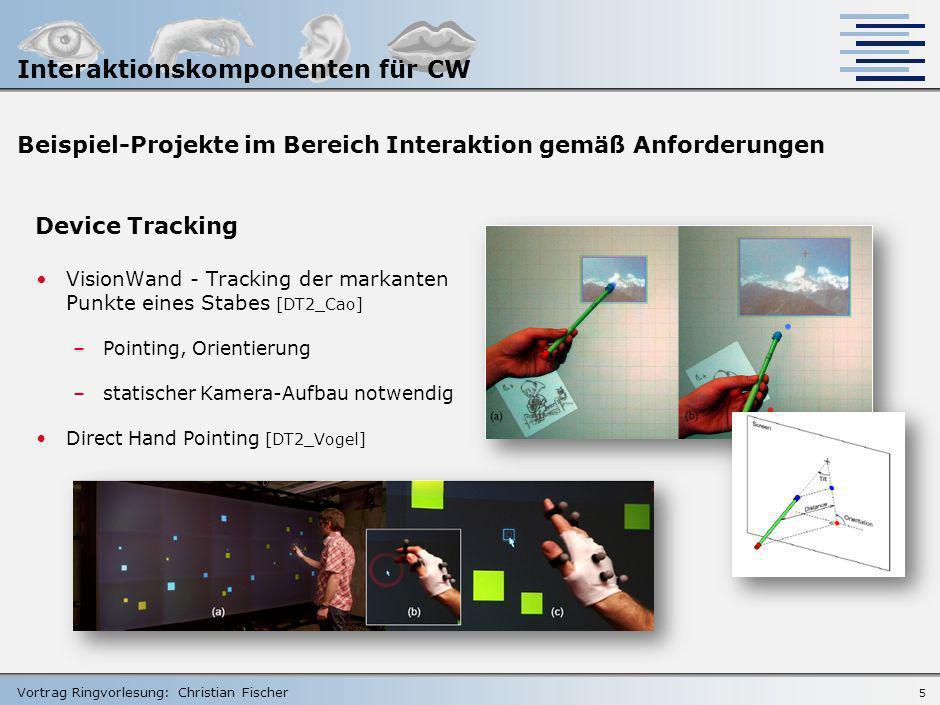 Vortrag Ringvorlesung: Christian Fischer 4 Rückblende: Grobentwurf Grabstick -Handteil als Interaktionselement -In die Front integriert, nimmt eine Mi
