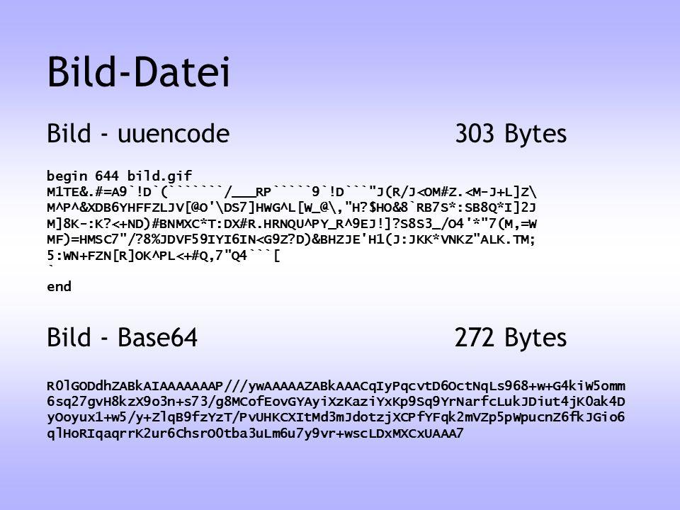 Bild - uuencode303 Bytes Bild - Base64272 Bytes begin 644 bild.gif M1TE&.#=A9`!D`(```````/___RP`````9`!D```