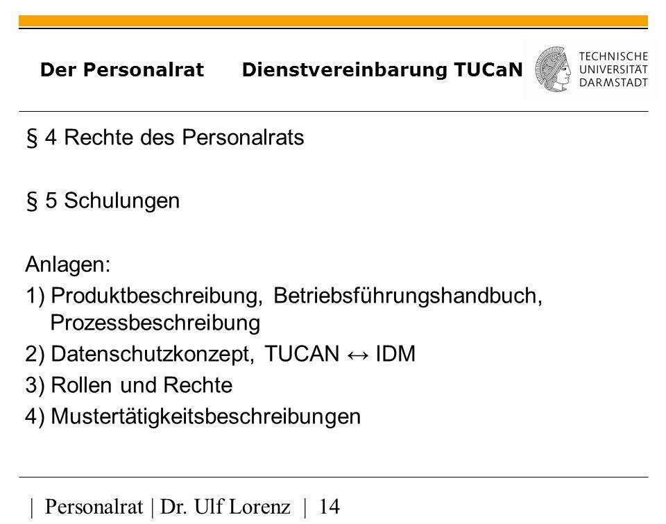 | Personalrat | Dr.