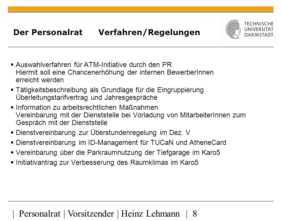   Personalrat   Vorsitzender   Heinz Lehmann   29 Der Personalrat Tarifsituation Seit 1.