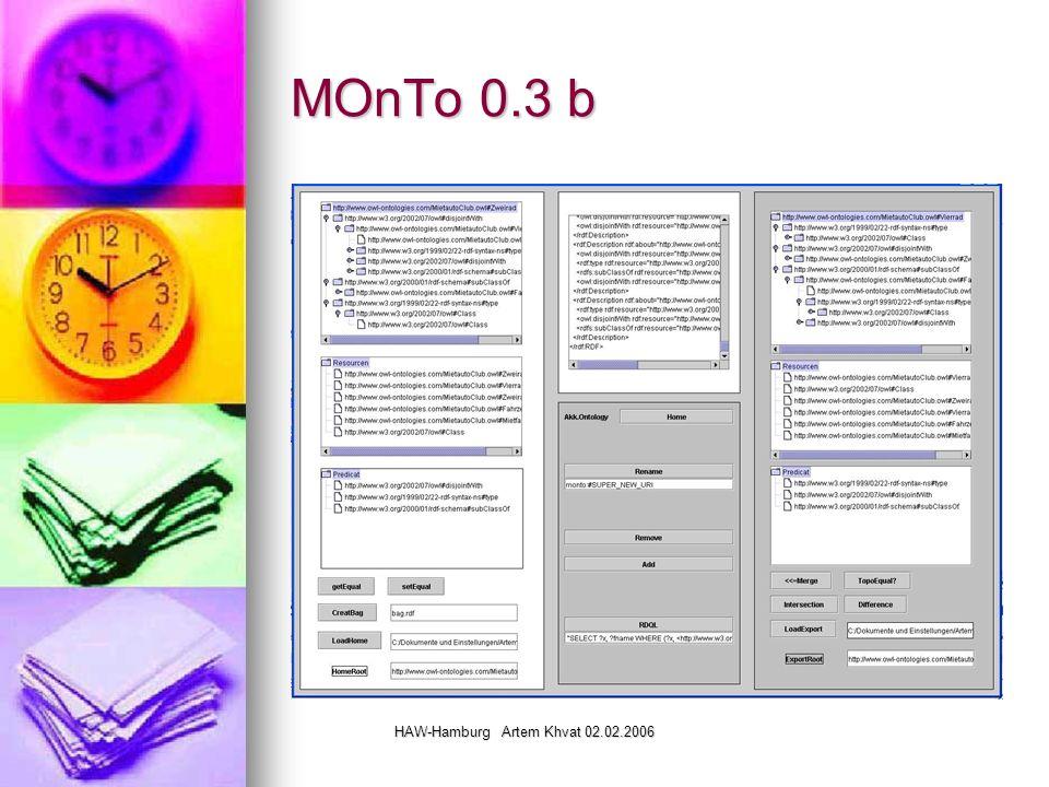 HAW-Hamburg Artem Khvat 02.02.2006 MOnTo 0.3 b