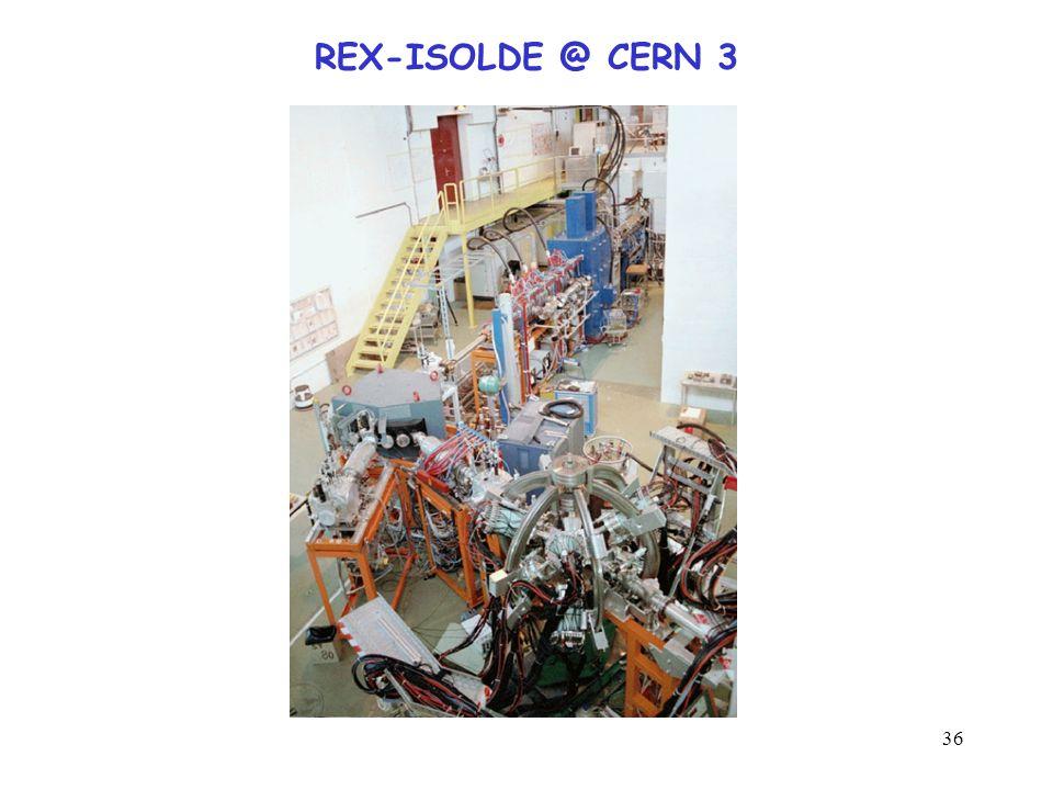36 REX-ISOLDE @ CERN 3