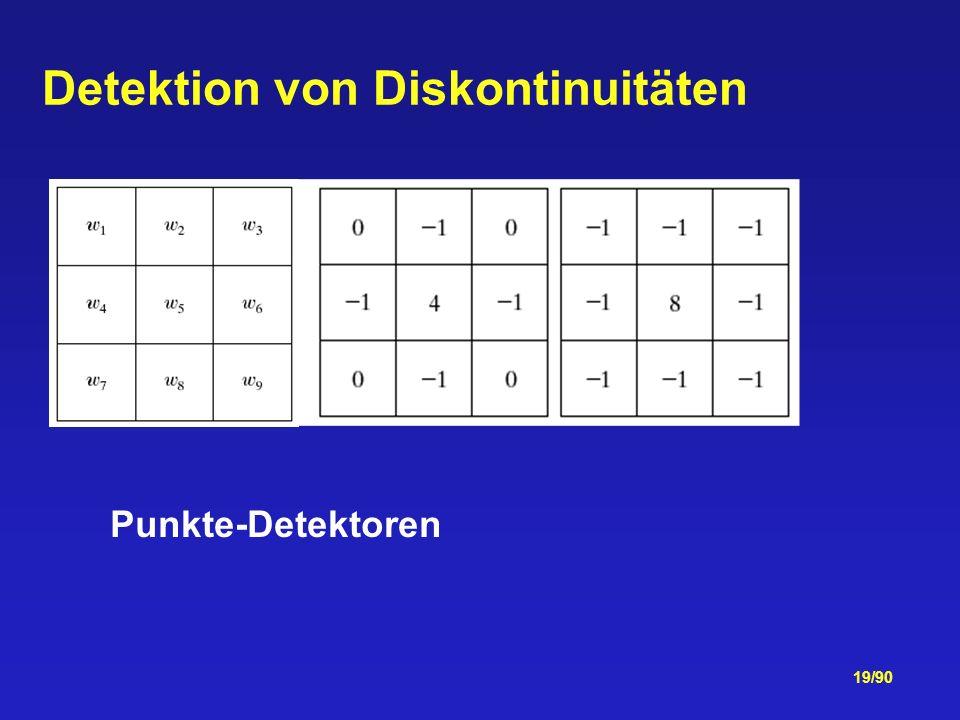 19/90 Detektion von Diskontinuitäten Punkte-Detektoren