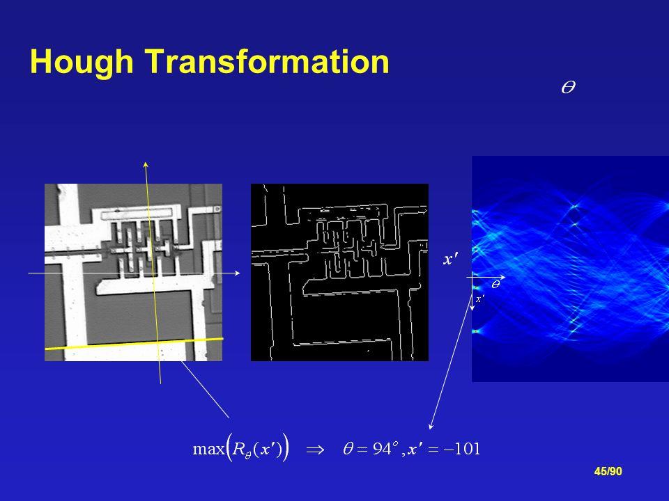 45/90 Hough Transformation