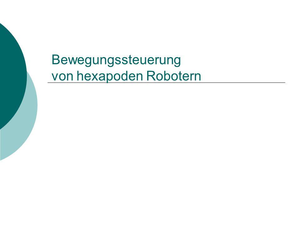 Bewegungssteuerung von hexapoden Robotern