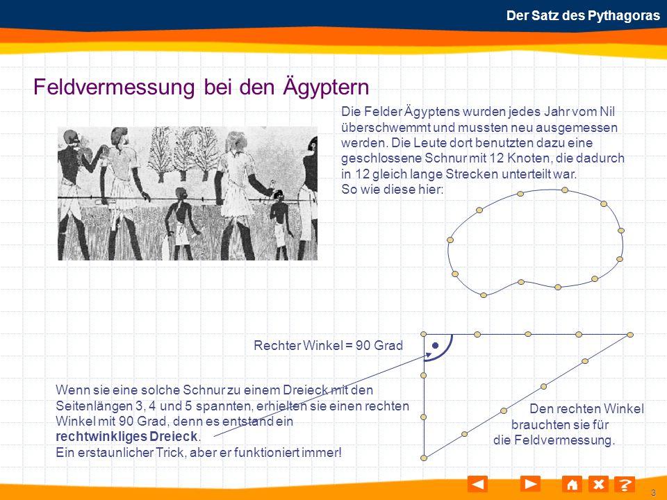 44 Der Satz des Pythagoras Rechnerische Anwendung Aufgabe: 5.