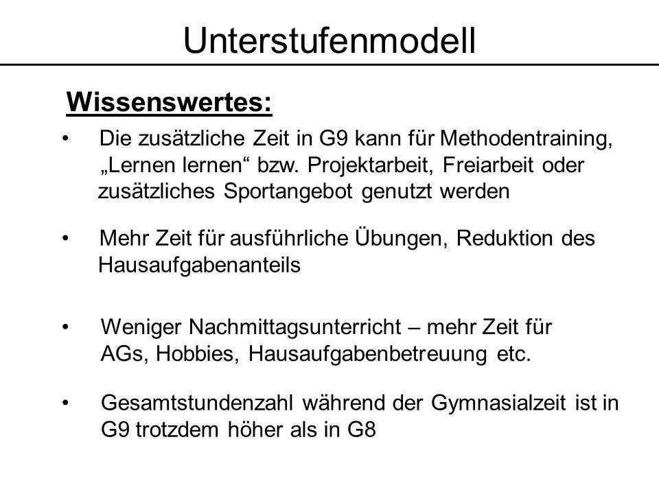 Das verlangsamte Tempo in G9 wird auf 6 Jahre gestreckt Gemeinsame Eingewöhnungszeit wie in Modell ASG 1 Die Wahl der Züge muss nicht bei Anmeldung erfolgen Modell ASG 2 VORTEILE: