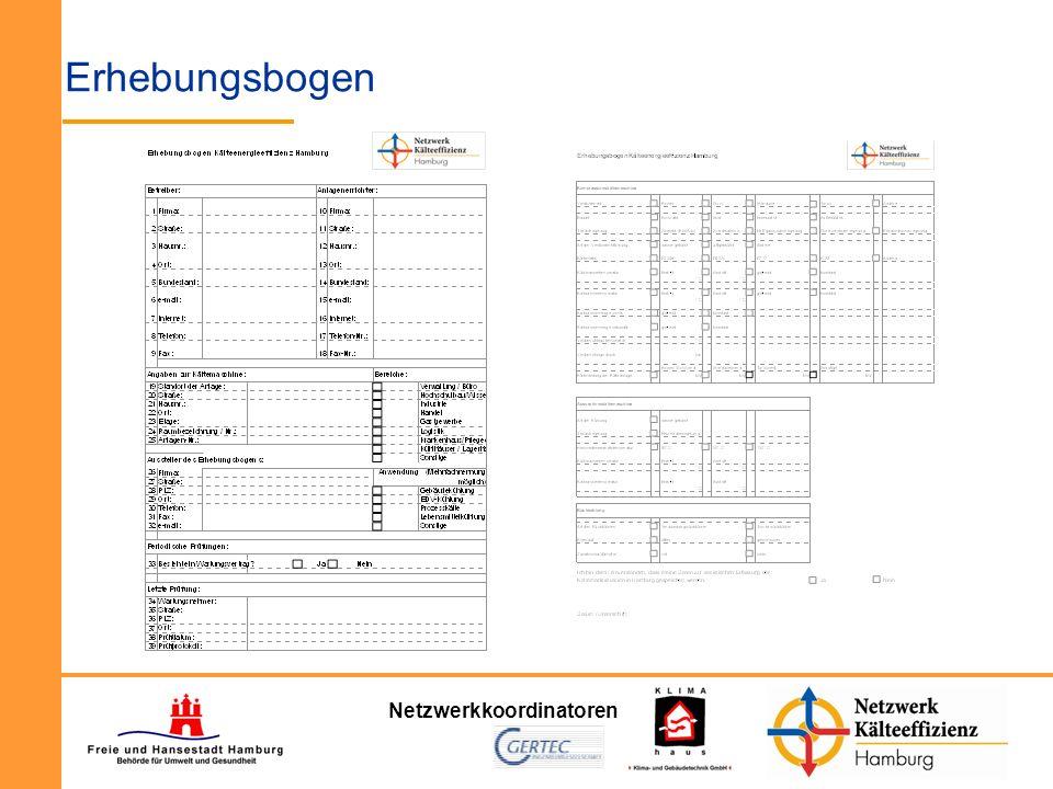 Netzwerkkoordinatoren Erhebungsbogen