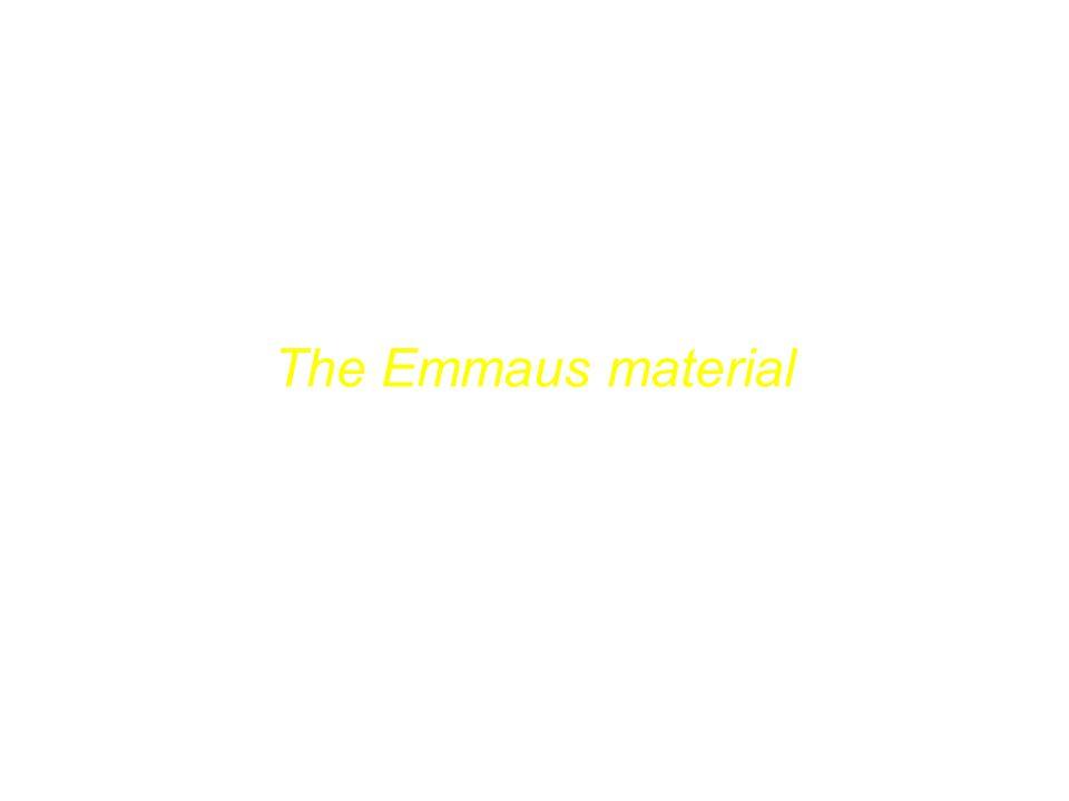 Das Emmaus-Material The Emmaus material Felicity Lawson