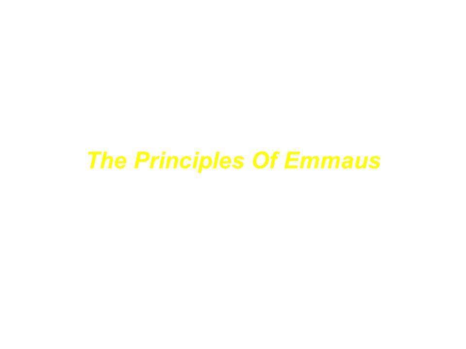 Die Grundgedanken von Emmaus The Principles Of Emmaus John Finney