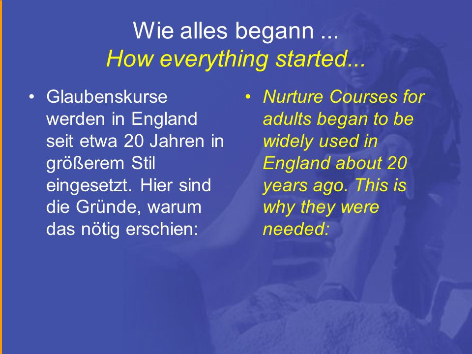 Wie alles begann...How everything started...