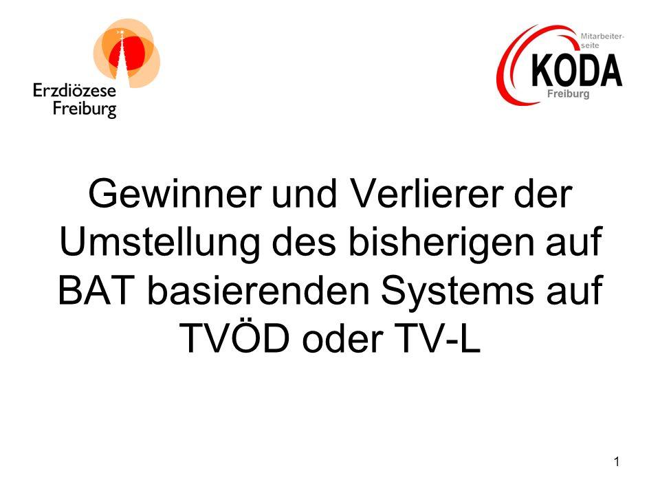 1 Gewinner und Verlierer der Umstellung des bisherigen auf BAT basierenden Systems auf TVÖD oder TV-L