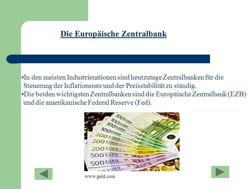 In den meisten Industrienationen sind heutzutage Zentralbanken für die Steuerung der Inflationsrate und der Preisstabilität zu ständig. Die beiden wic