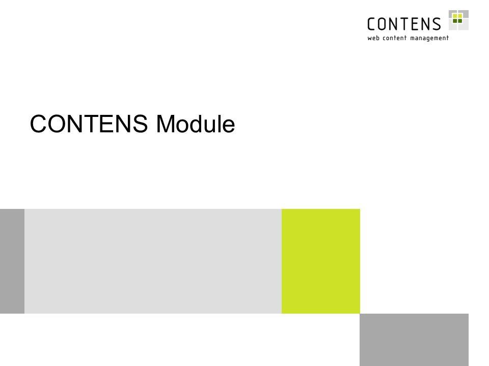 12 © CONTENS Software GmbH ARedaktion Grundlagen BAdministration CModule –Überblick über Standard-Module –Spezialprogrammierte Module: Stipendiaten-Workflow, Seitenimport-Objekt –Serverarchitektur-Szenarien DTemplates