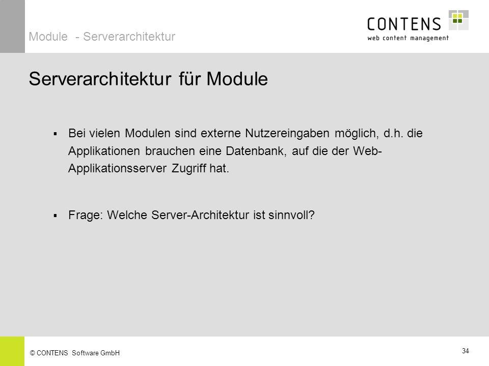 Server-Architektur CONTENS Module