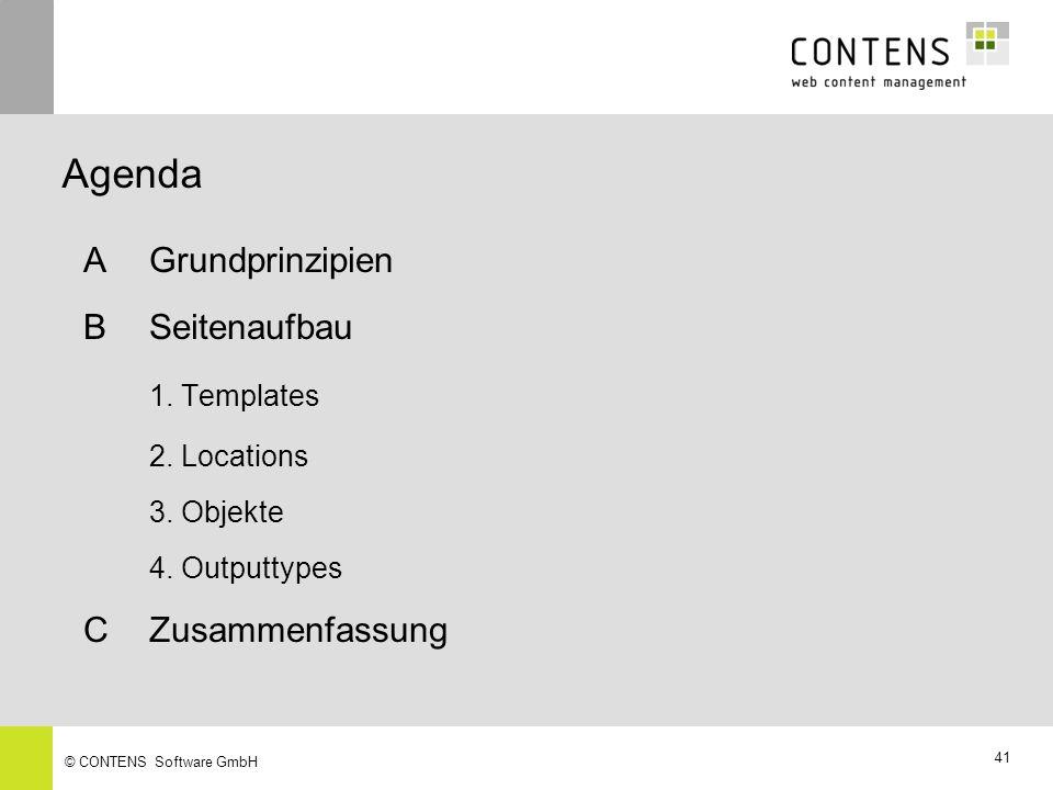 41 © CONTENS Software GmbH AGrundprinzipien BSeitenaufbau 1.