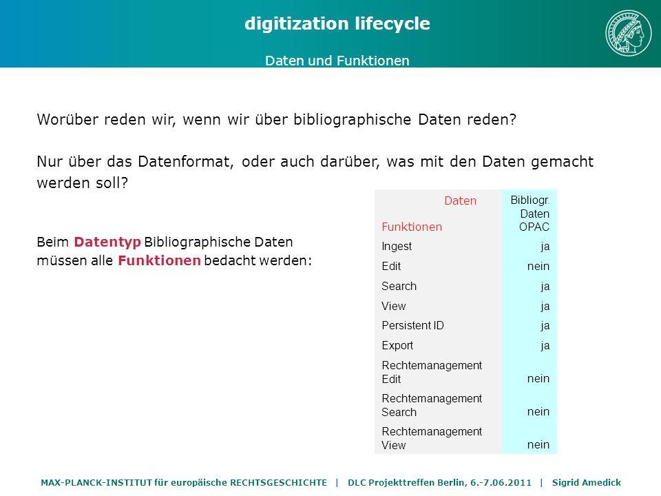 MAX-PLANCK-INSTITUT für europäische RECHTSGESCHICHTE | DLC Projekttreffen Berlin, 6.-7.06.2011 | Sigrid Amedick Worüber reden wir, wenn wir über Search reden.