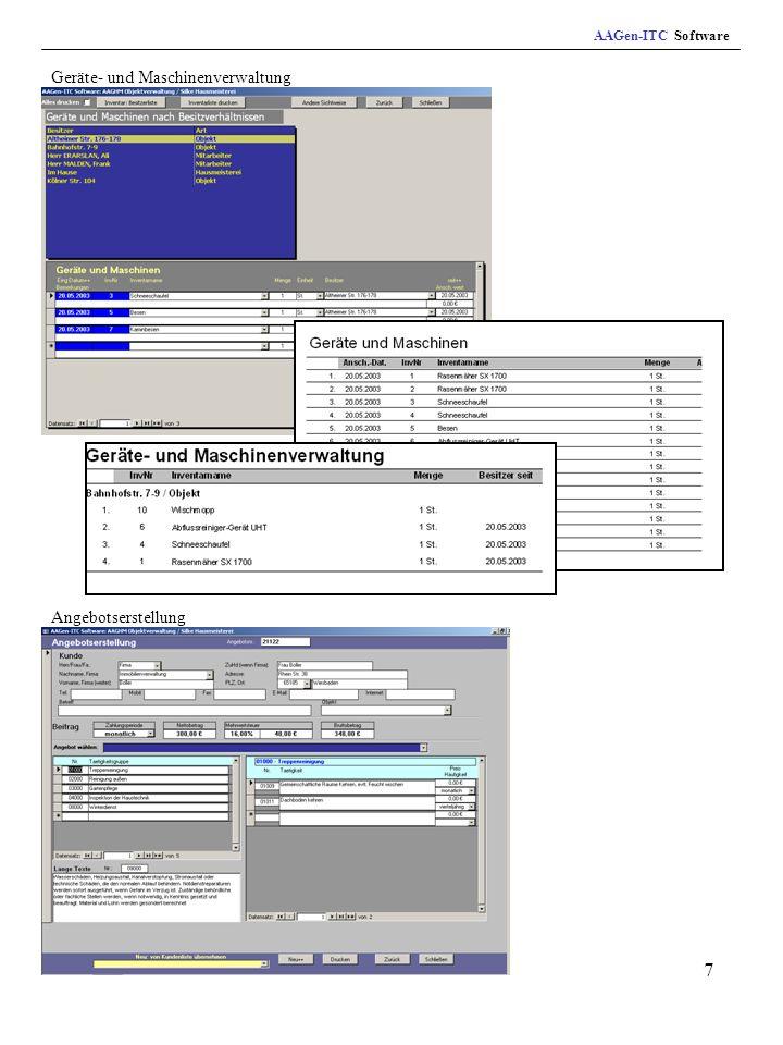 8 Mitarbeiter-Leistungen Serienbriefe und Rundschreiben AAGen-ITC Software