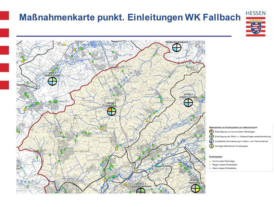 Maßnahmenkarte punkt. Einleitungen WK Fallbach