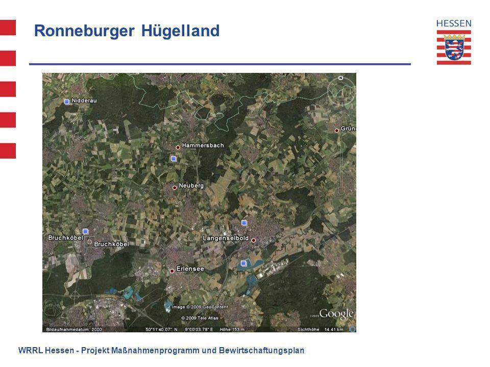 Ronneburger Hügelland WRRL Hessen - Projekt Maßnahmenprogramm und Bewirtschaftungsplan