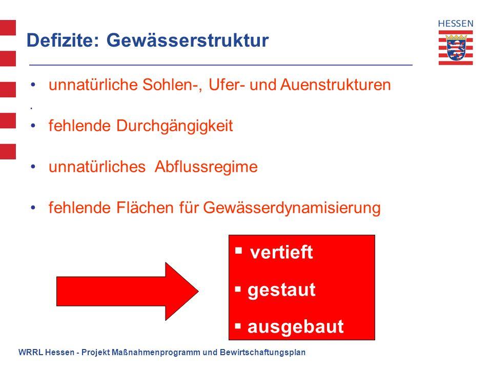 WRRL Hessen - Projekt Maßnahmenprogramm und Bewirtschaftungsplan Maßnahmenkonzeption Stoffe Kläranlagen: Optimierung und ggf.