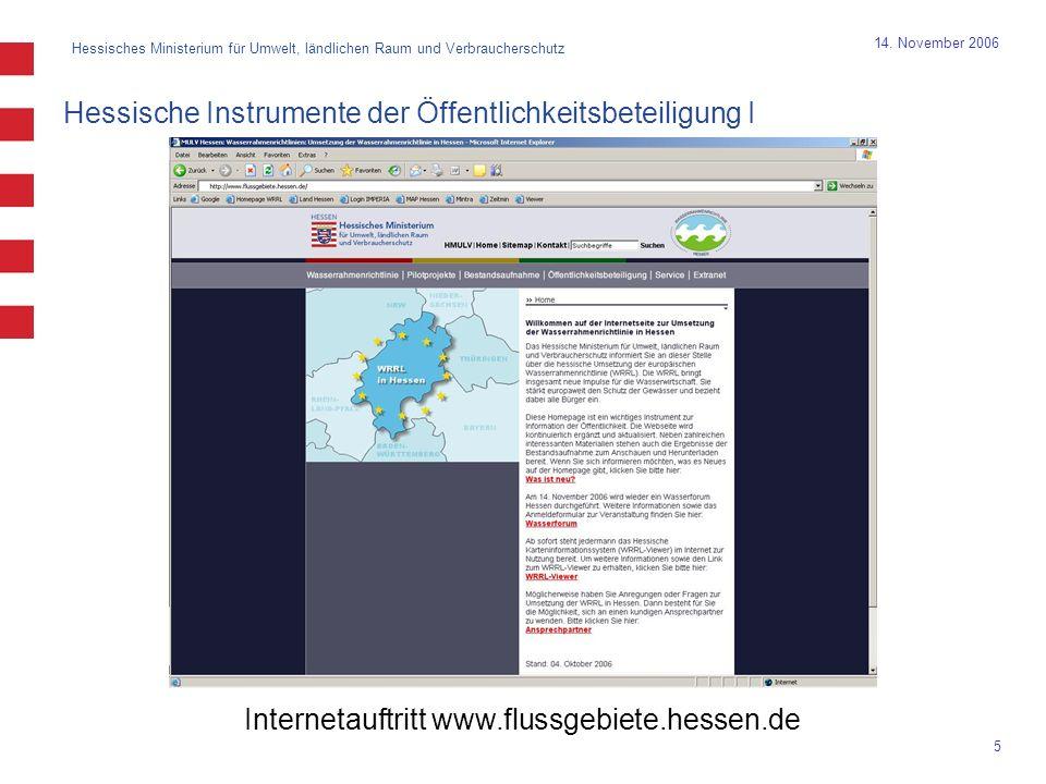 Hessisches Ministerium für Umwelt, ländlichen Raum und Verbraucherschutz 5 14.