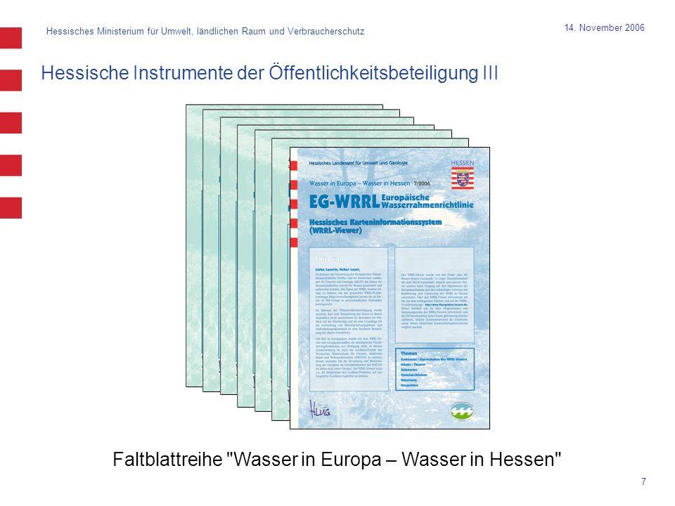Hessisches Ministerium für Umwelt, ländlichen Raum und Verbraucherschutz 7 14.