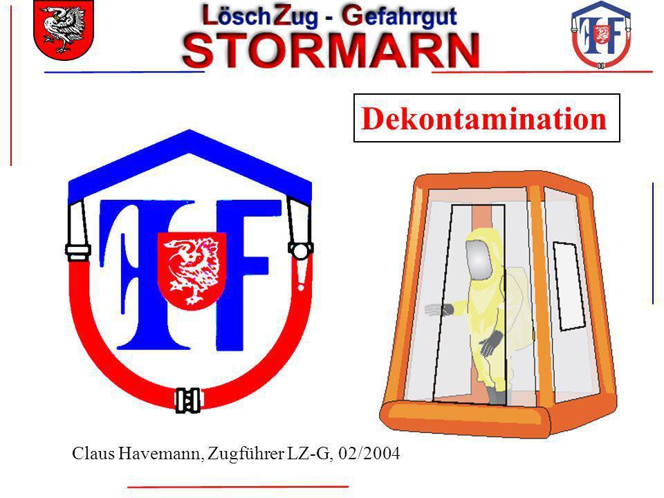 Dekontamination Claus Havemann, Zugführer LZ-G, 02/2004