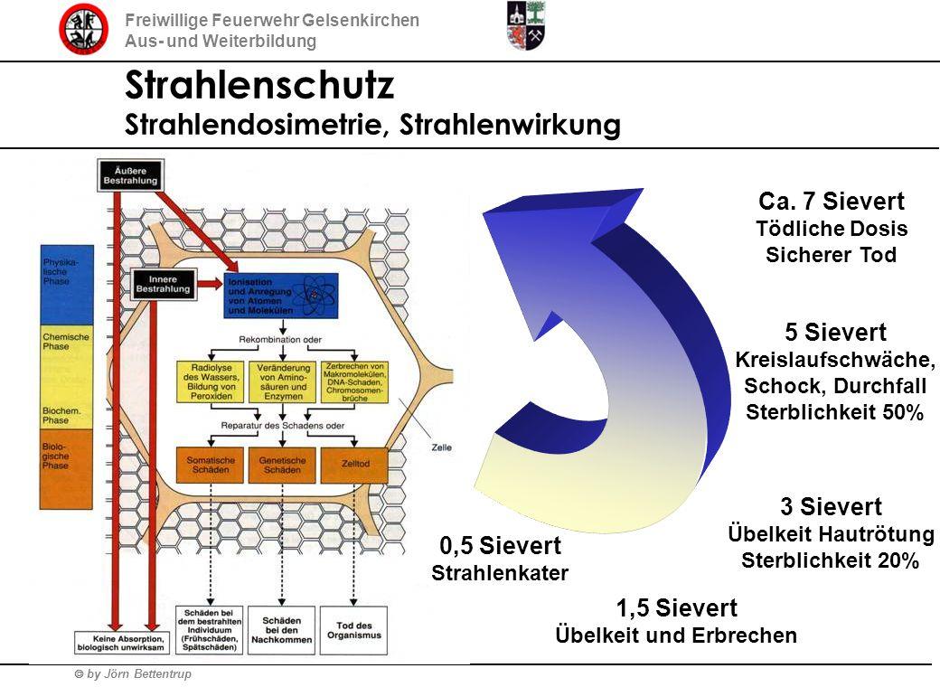 by Jörn Bettentrup Freiwillige Feuerwehr Gelsenkirchen Aus- und Weiterbildung Strahlenschutz Strahlendosimetrie, Strahlenwirkung 0,5 Sievert Strahlenk