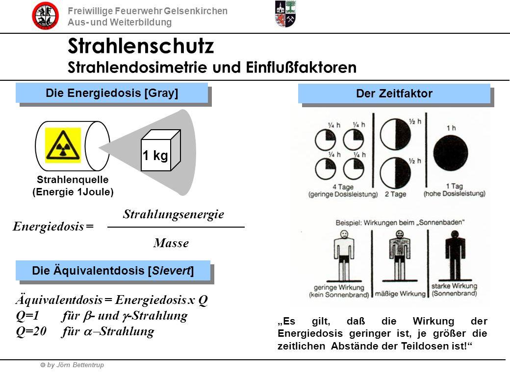 by Jörn Bettentrup Freiwillige Feuerwehr Gelsenkirchen Aus- und Weiterbildung Strahlenschutz Strahlendosimetrie und Einflußfaktoren 1 kg Die Energiedo