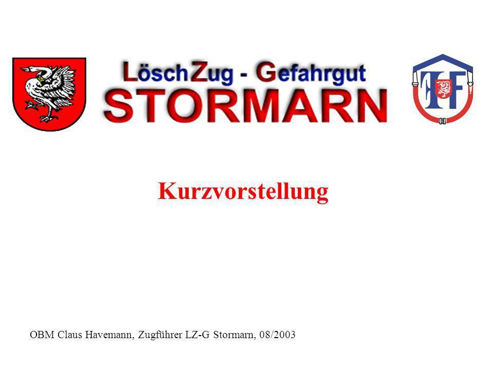 OBM Claus Havemann, Zugführer LZ-G Stormarn, 08/2003 Kurzvorstellung