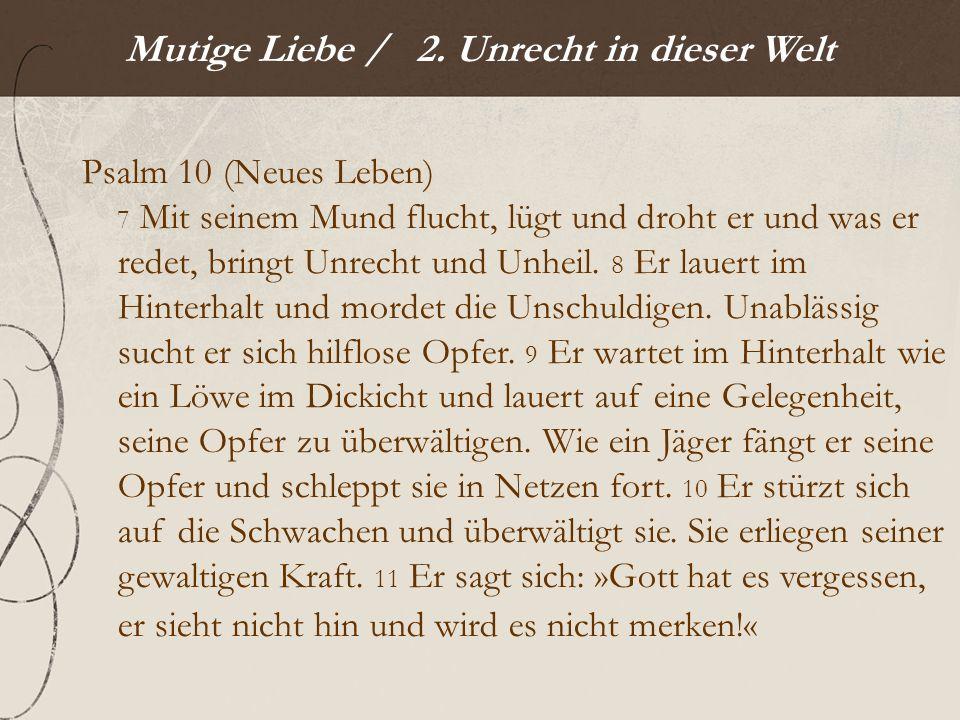 Mutige Liebe / 2.