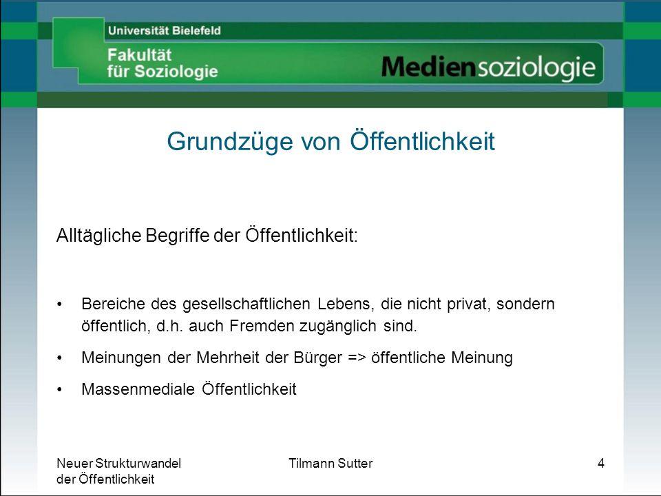 Neuer Strukturwandel der Öffentlichkeit Tilmann Sutter25 Neuer Strukturwandel der Öffentlichkeit.