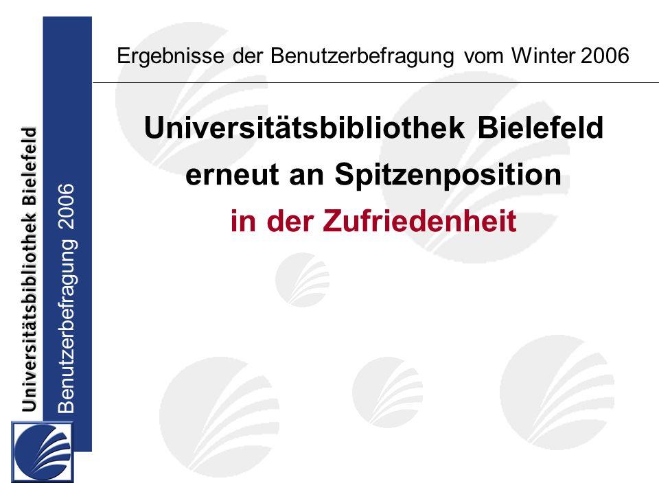Benutzerbefragung 2006 Ergebnisse der Benutzerbefragung vom Winter 2006 Wunsch nach Ausbau von Angeboten und Dienstleistungen: Studierende im Hauptstudium