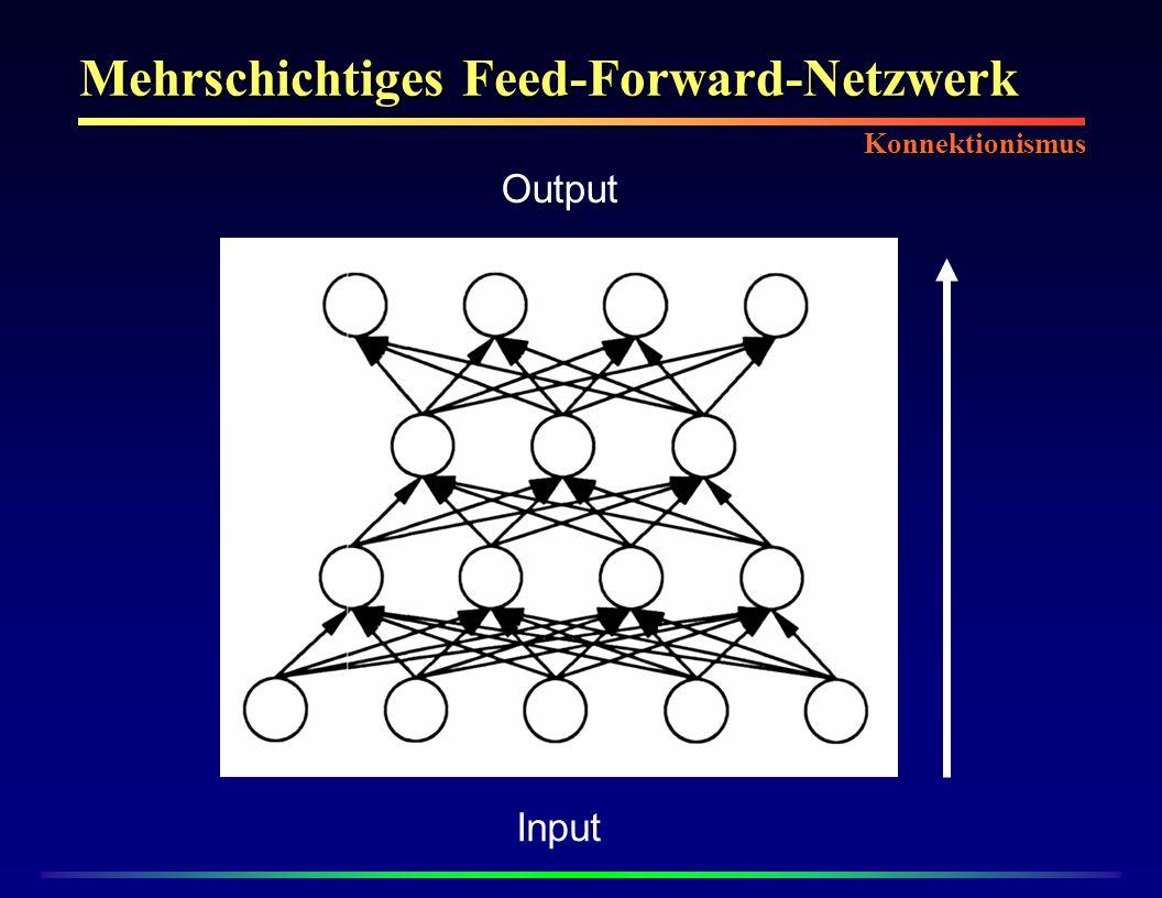 Mehrschichtiges Feed-Forward-Netzwerk Output Input Konnektionismus