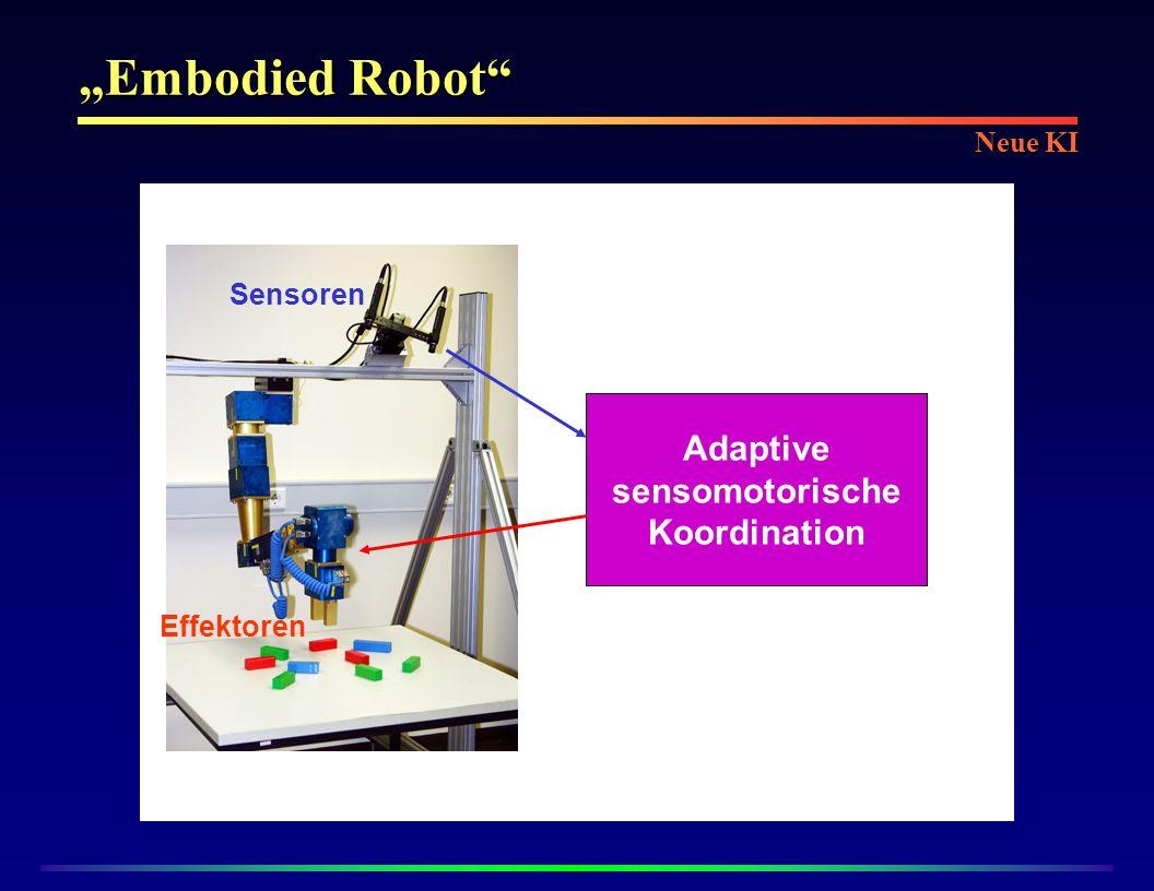 Embodied Robot Adaptive sensomotorische Koordination Sensoren Effektoren Neue KI