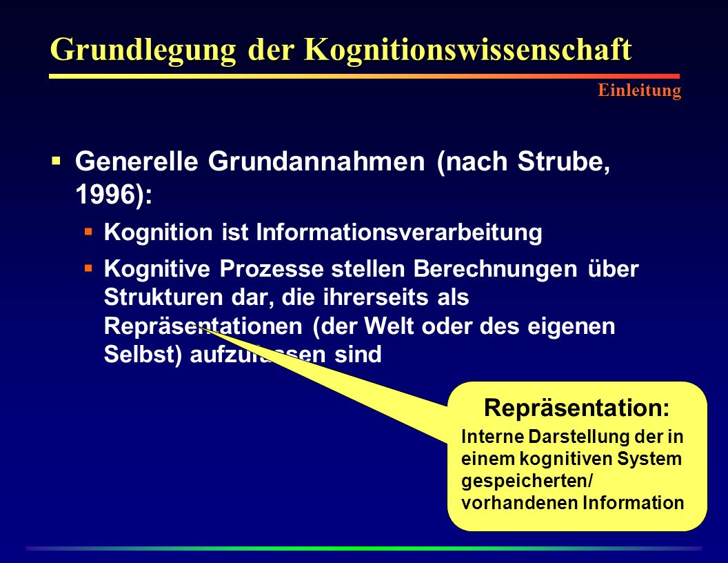 Konnektionismus Verteilte Informationsverarbeitung: Ziel: Umwandlung von Inputdaten zu Outputdaten Viele simple Einheiten sind zu komplexen Netzwerken verschaltet Vorbild: Biologische Nervensysteme Konnektionismus