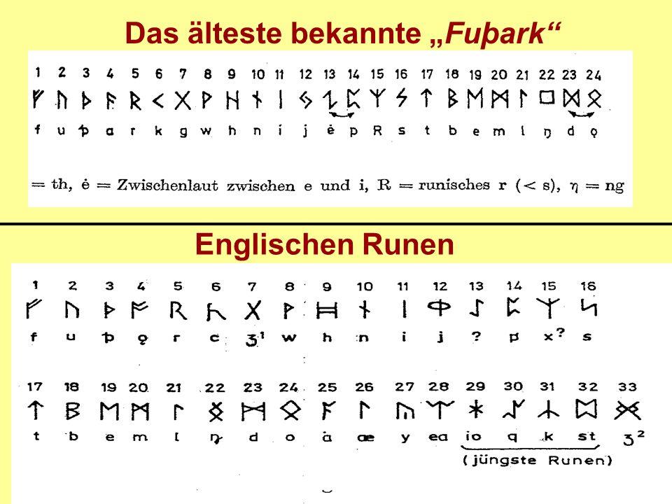 Englischen Runen Das älteste bekannte Fuþark