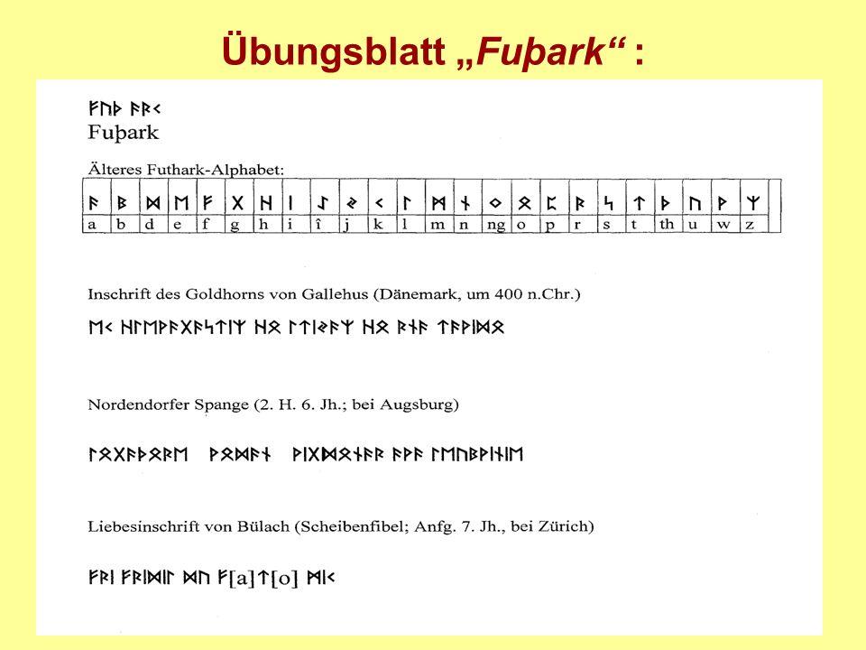 Übungsblatt Fuþark :