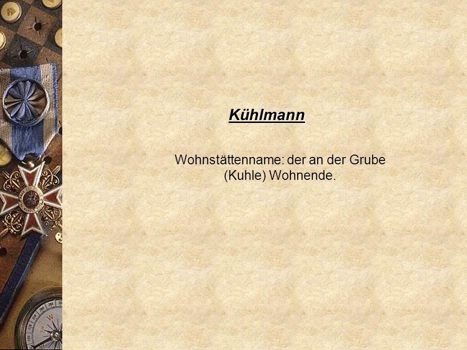 Krause * 1225 Cruse * 1402 Krauß Übername zu mittelhochdeutsch / mittelniederdeutsch krūs = kraus gelockt.