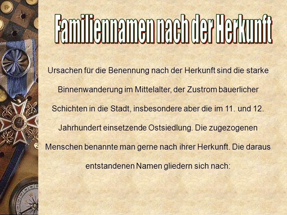 Rufname + Rufname im Genitiv + Sohn (Hans Hinrichs Sohn) Rufname + Familienname + -son/ -sen (Hans Hinrichsen) Rufname + Rufname im Genitiv (Hans Hinrichs) Rufname + Familienname (Hans Hinrich)