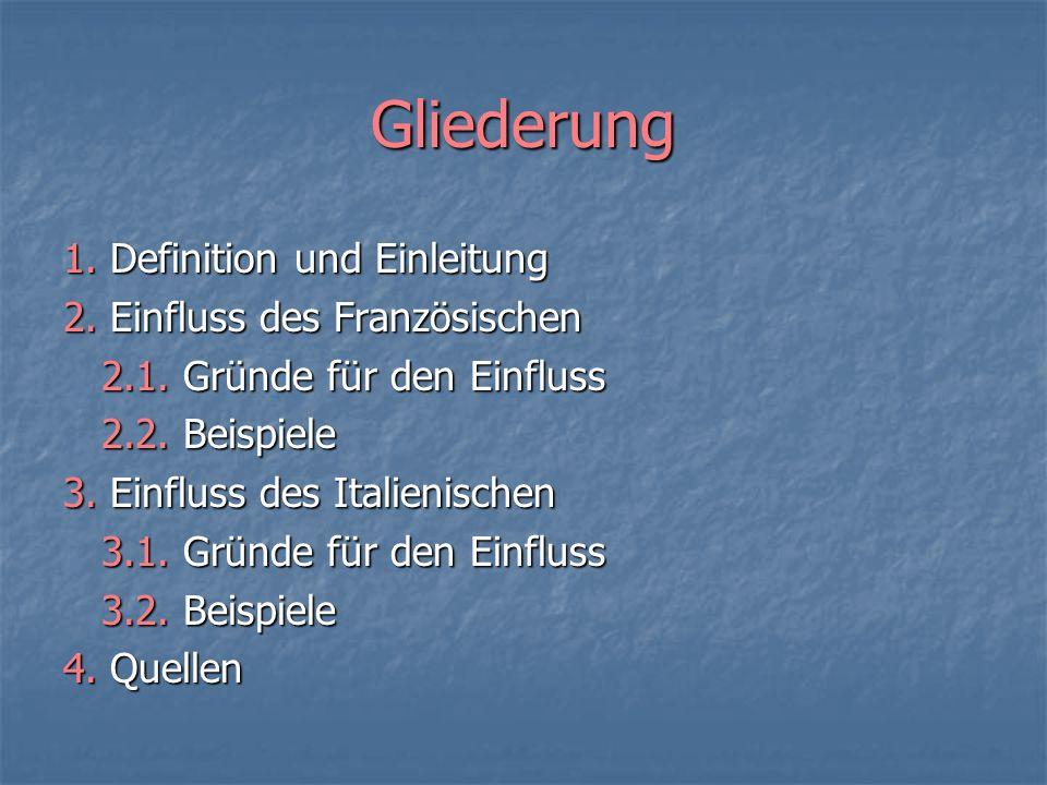 Beispiele VII General: entlehnt aus kirchen-lat.(13.