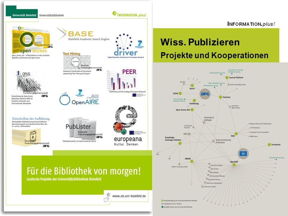 Universitätsbibliothek Wiss. Publizieren Projekte und Kooperationen