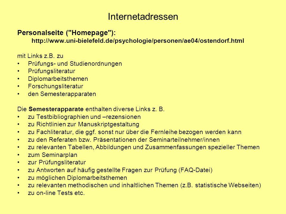 Internetadressen Personalseite (