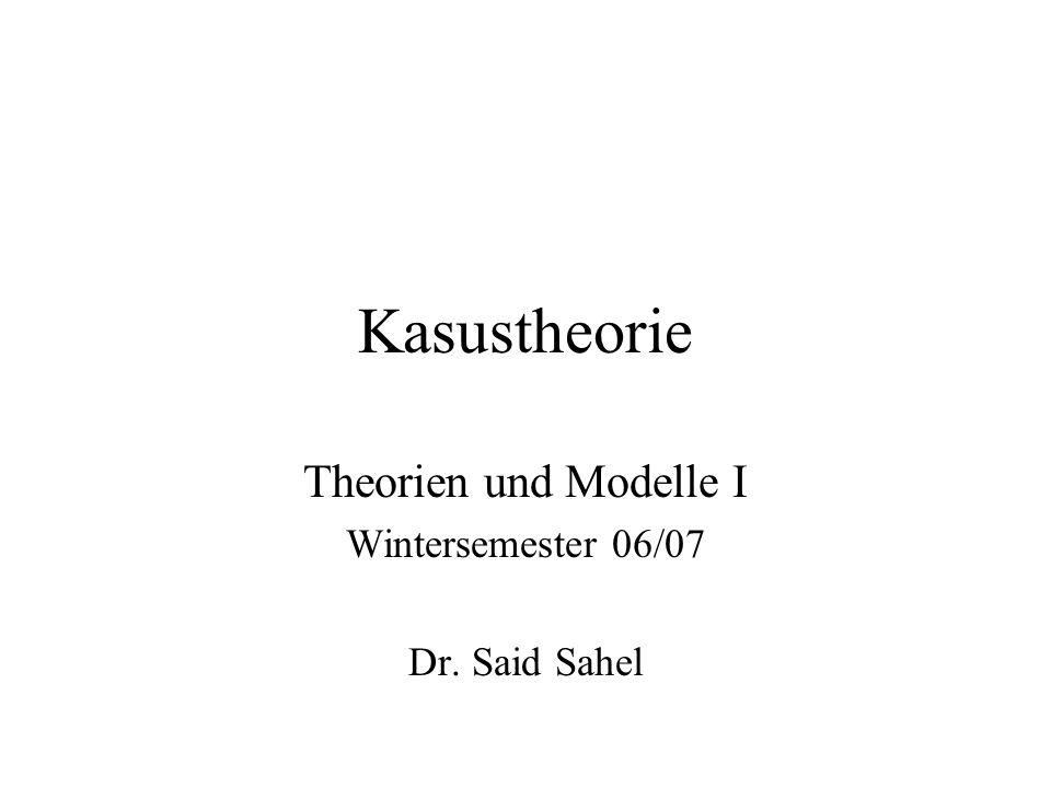 Kasustheorie * Theorien und Modelle Zwei Prinzipien der Kasustheorie 1.Kasusfilter: *NP ist ungrammatisch, wenn NP keinen Kasus zugewiesen bekommt.