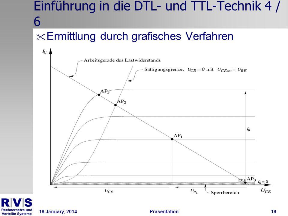 19 January, 2014 Präsentation 19 Einführung in die DTL- und TTL-Technik 4 / 6